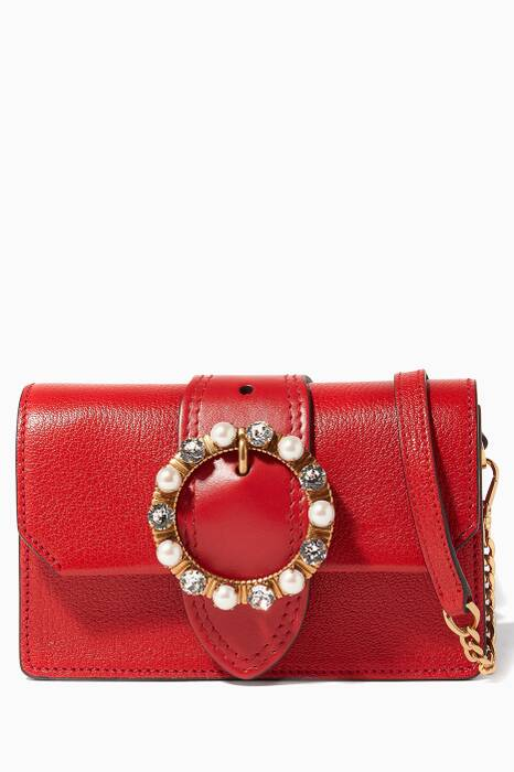 Red Lady Leather Crossbody Bag
