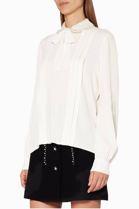 Off-White Pussy-Bow Embellished Blouse