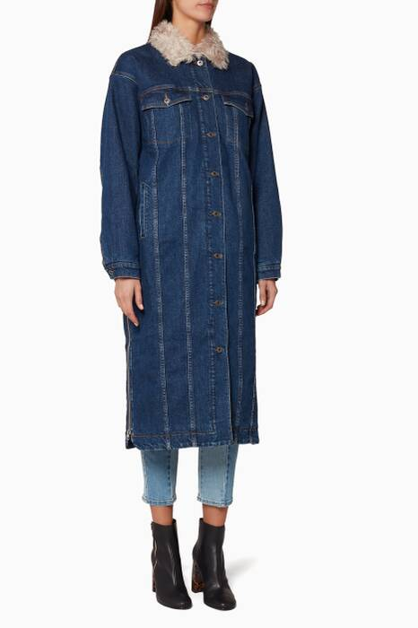 Dark-Blue Keara Denim Coat