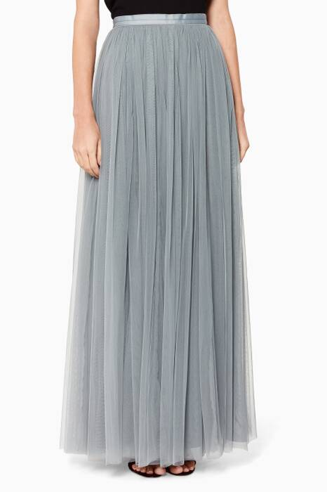 Moonstone Tulle Maxi Skirt
