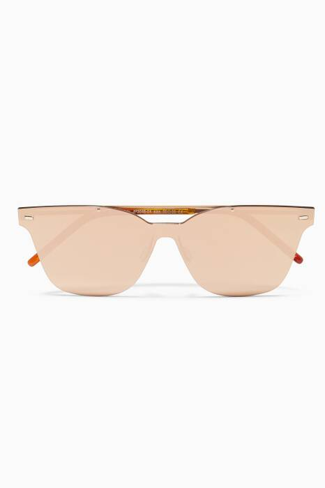 Gold Kausama 2 Square-Frame Sunglasses