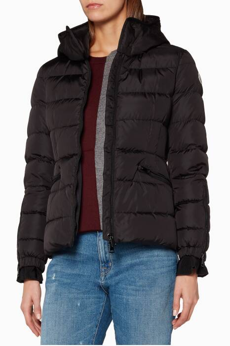 Black Moncler Betula Quilted Hooded Jacket
