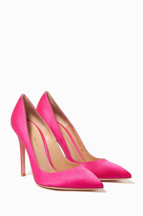 Pink Gianvito Satin Pumps