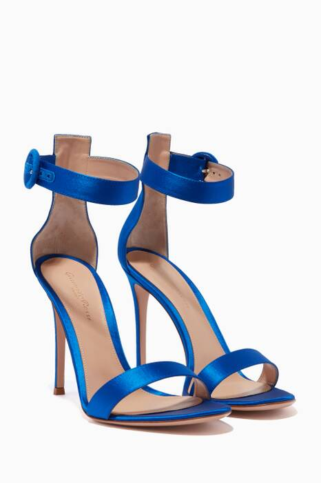 Blue Portofino Satin Sandals