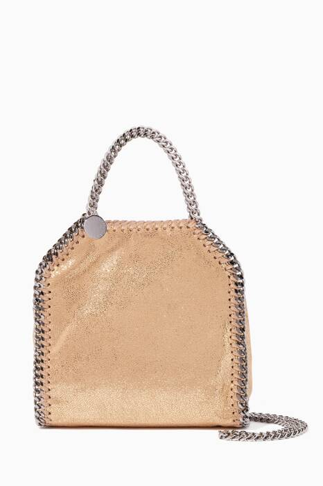 Gold Tiny Chamois Falabella Cross-Body Bag