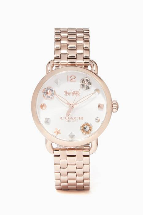 Rose-Gold Delancey Leather-Strap Watch