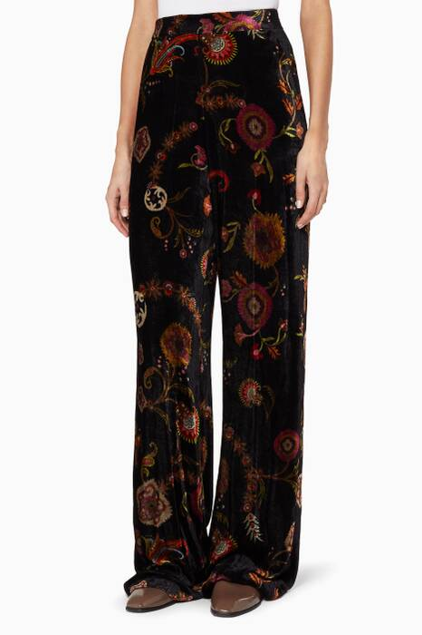 Multi-Coloured Printed Palazzo Pants