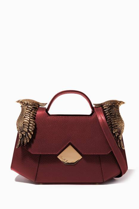 Burgundy Colonel Leather Shoulder Bag