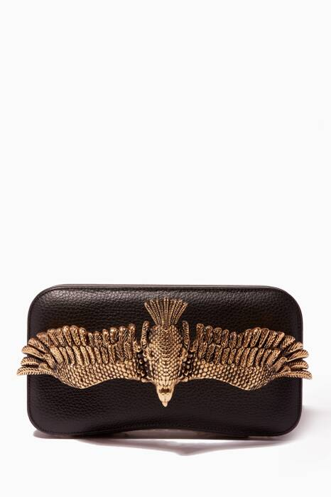 Black Soaring Eagle Clutch