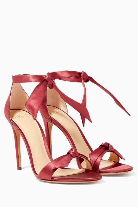 Red Clarita Satin Sandals