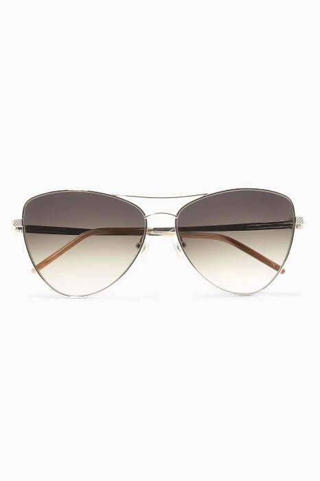 Platinum Combustion 8 Metal Aviator Sunglasses