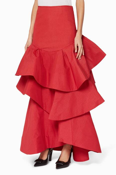 Arora Red Lettuce Be Skirt