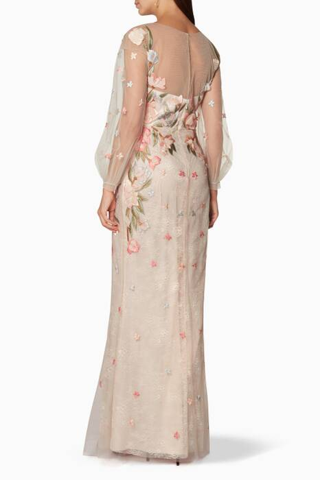 Pastel-Pink Bead Embellished Gown