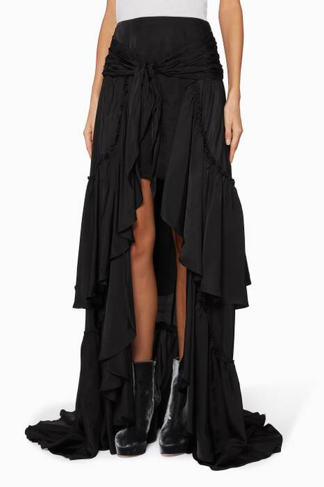 Black Amora Layered Skirt