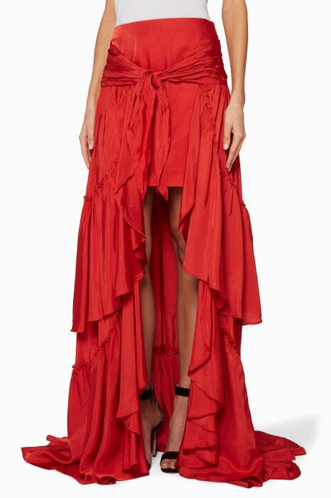 Red Amora Layered Skirt