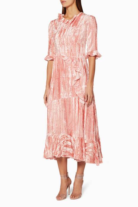 Pink Ruffled Alina Dress
