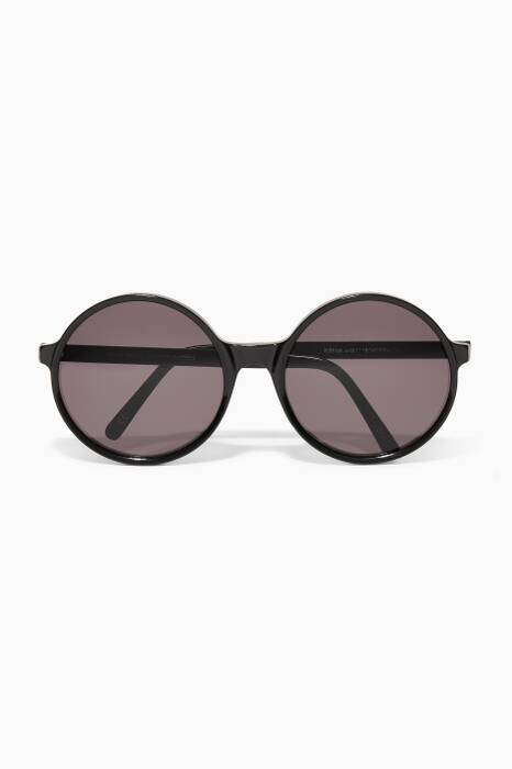 Black Kim Round Sunglasses