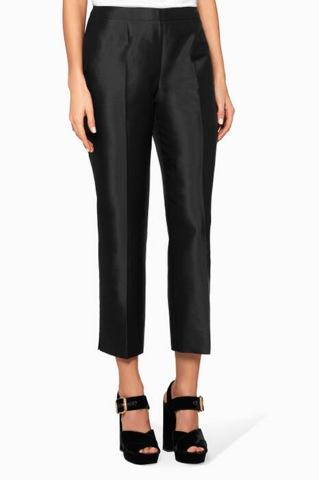 Black Press Pleated Pants