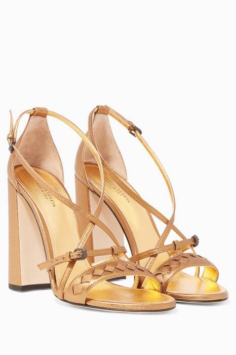 Metallic-Gold Cherbourg Sandals