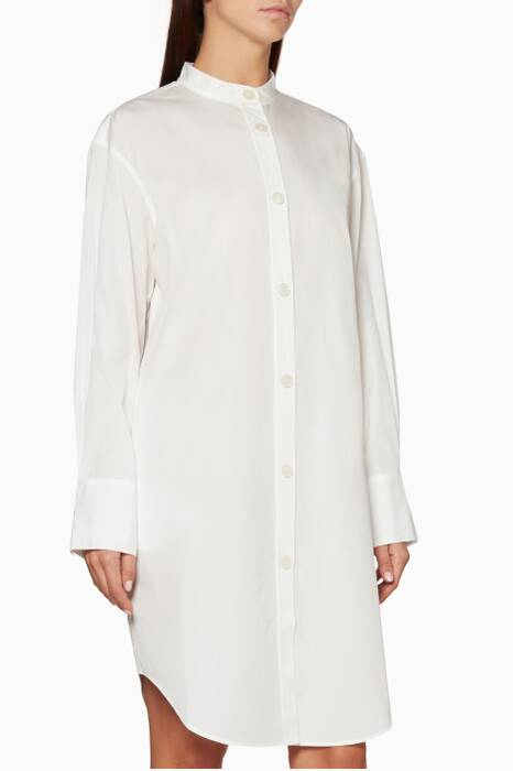 White Diede Dry Pop Shirtdress