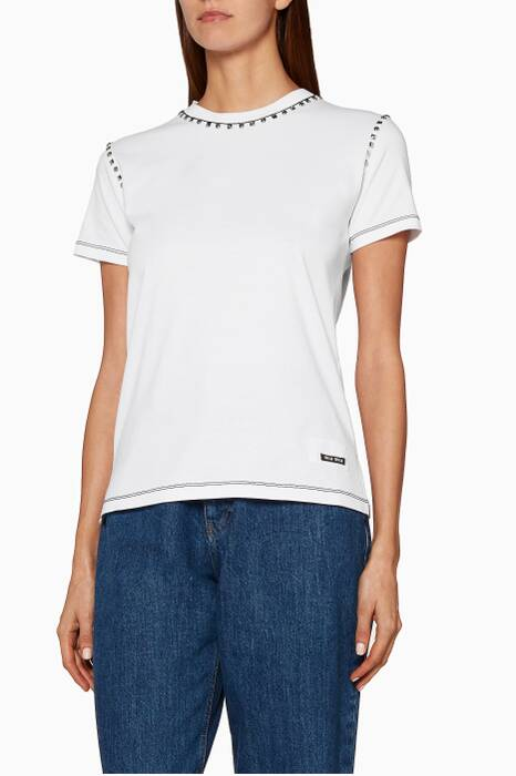 White Miu-Logo T-Shirt