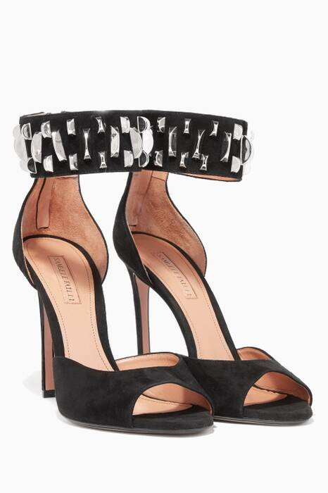 Black Peggy Studded Sandals
