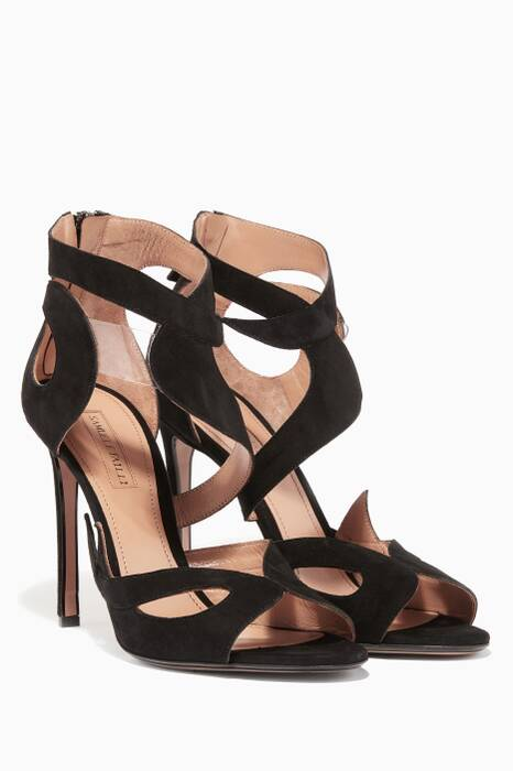 Black Kelly Suede Sandals