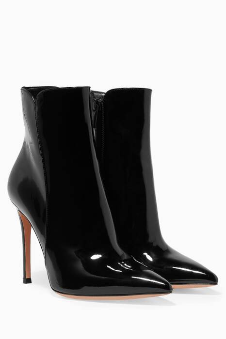 Black Patent Leather Bootie