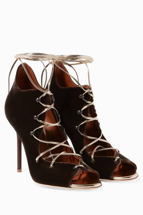 Brown Savannah Lace-Up Booties
