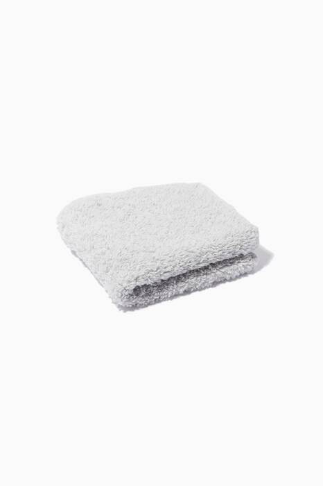 Silver Super Pile Face Towel