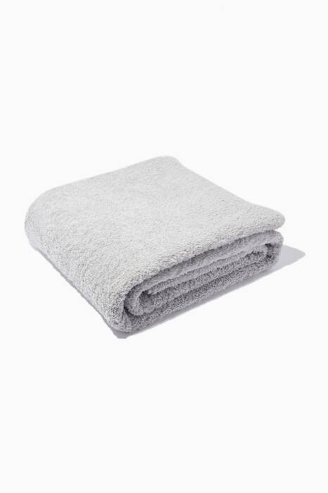 Silver Super Pile Bath Towel