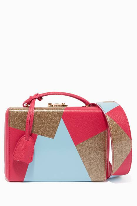 Geranium Small Grace Patchwork Pebbled Leather Box Bag