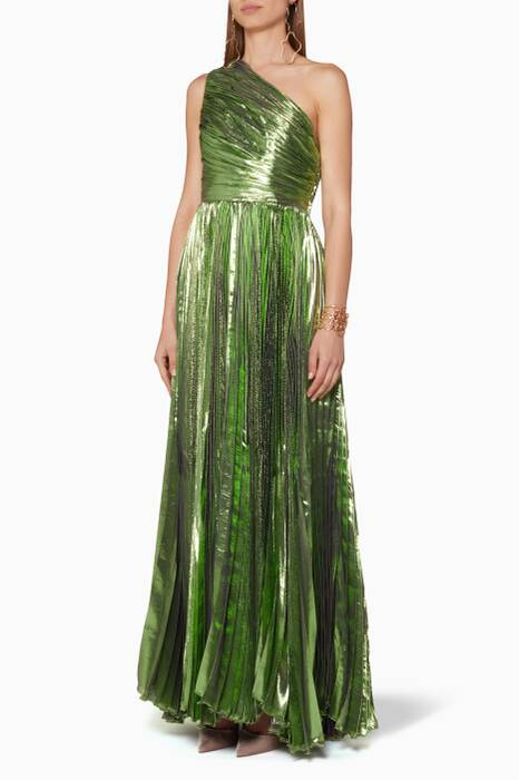 Metallic-Green Atheer Gown