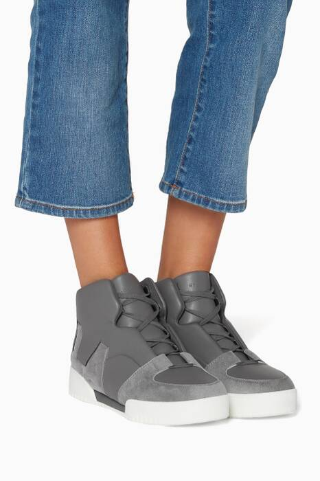 Dark-Grey High Top Stella Sneakers