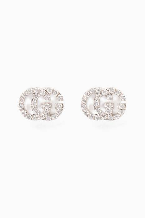 White-Gold & Diamond Running Stud Earrings