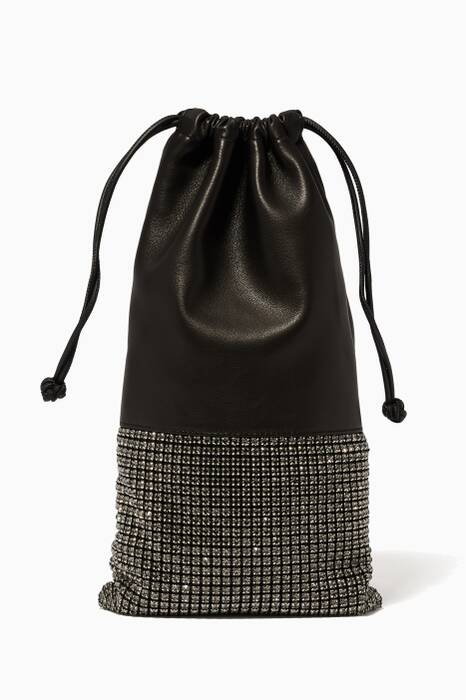 Grey Rhinestone Embellished Ryan Dustbag