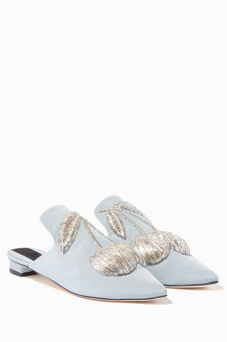 Light-Blue Ciliegia Slippers