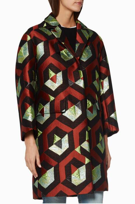 Bronze Geometric Rodel Coat