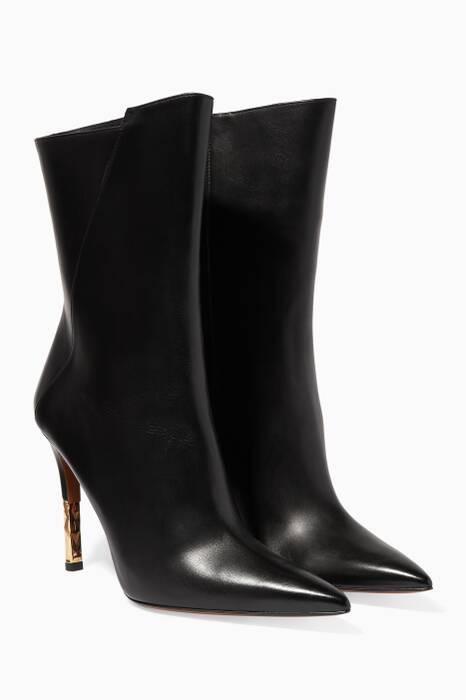 Black Blair 002 Leather Booties
