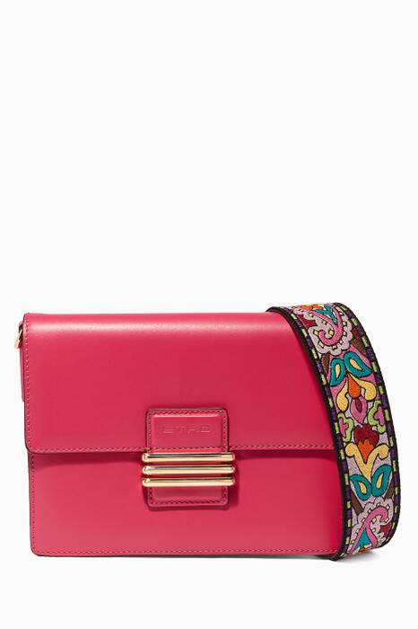 Pink Fold-Over Shoulder Bag