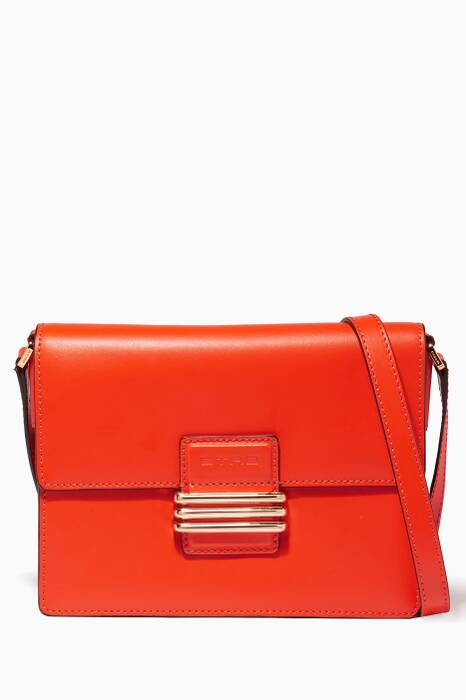 Orange Fold-over Shoulder Bag
