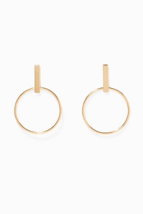 Gold-Plated Silver Minimalist Hoops