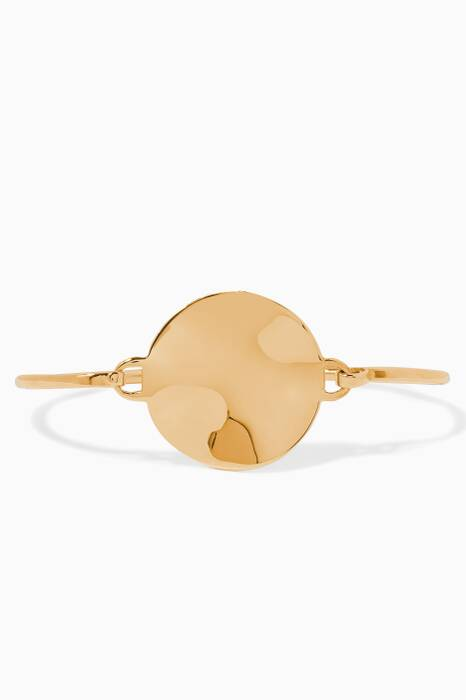 Gold-Plated Silver Wavee Disc Bangle