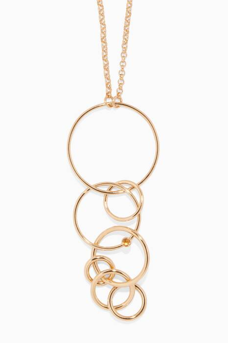 Gold-Plated Silver Layered Loop Necklace