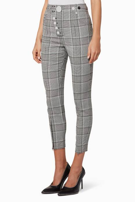 Checkered Slim Tailored Pants