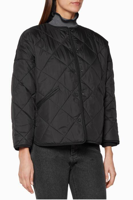 Black Dublin Quilted Jacket