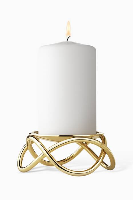 Gold-Plated Glow Large Candleholder