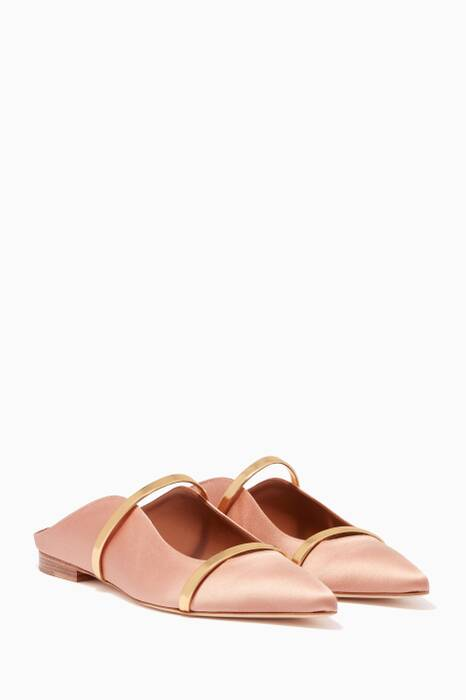 Light-Pink Maureen Satin Mules