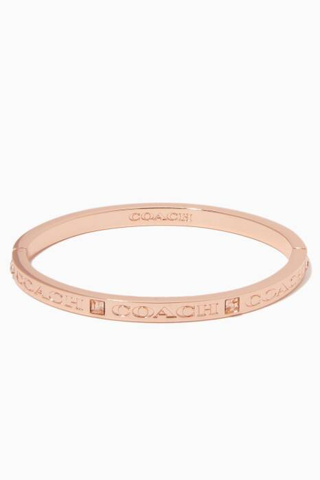 Rose-Gold Pave Hinged Bangle