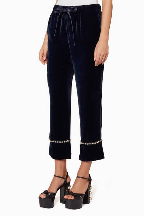 Blue Velvet Payjama Pants